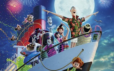 Монстры на каникулах 3 ; Море зовёт, Hotel Transylvania 3, мультфильм, комедия