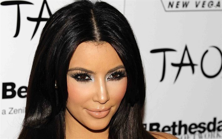 Kim Kardashian, Kim Kardashian, portrait, celebrity makeup