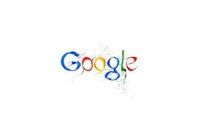 Гугл, креативный логотип, Google, краски