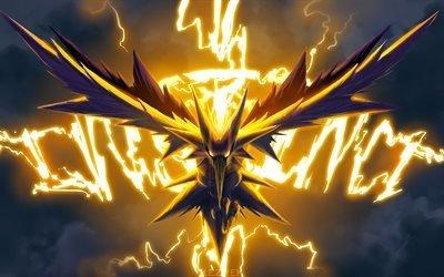 Zapdos, персонажи, молнии, Pokemon Go