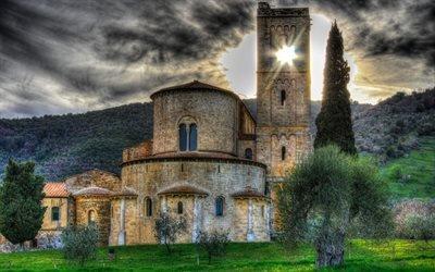 Аббатство Сант-Антимо, Тоскана, Италия
