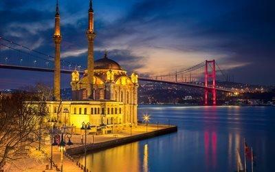 Османское барокко, Мечеть Ортакей, Босфорский мост, Стамбул, Турция