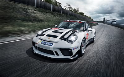 Порше, гоночное купе, 2017, Porsche, 911 GT3 Cup