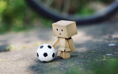 Данбо, футбол, картоный робот, мяч, Danbo
