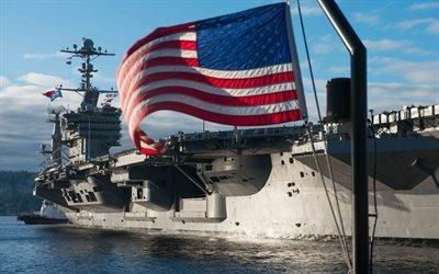 Американский авианосец, Джон К Стеннис, Aircraft carrier, United States Navy, USS John C Stennis, CVN - 74