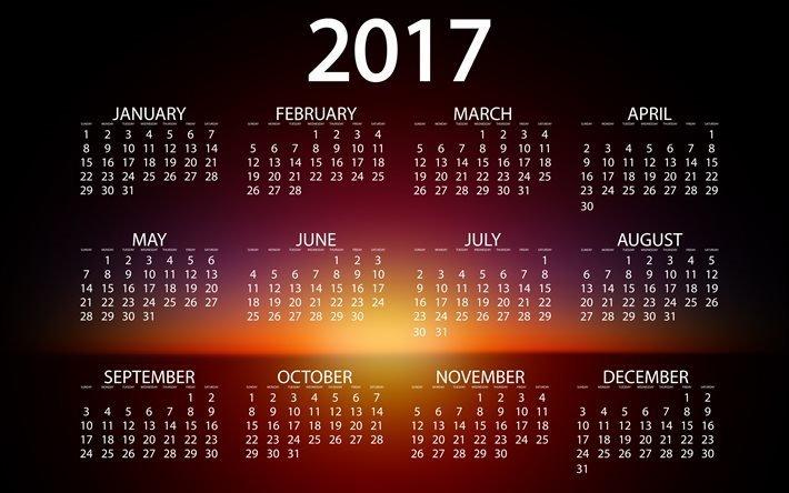 Календарь, 2017, Текстуры