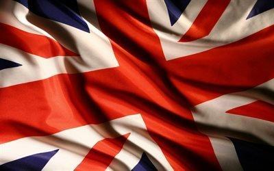 Британский флаг, ткань, флаги, полотно, флаг Британии