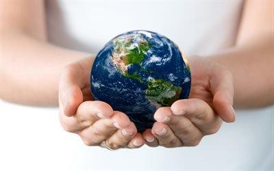 Земля, Планета, руки