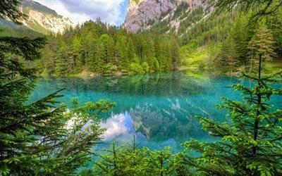 Альпы, горы, лес, горное озеро, Италия