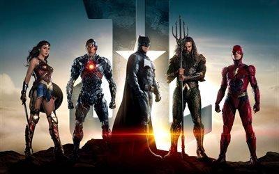 Лига Справедливости, 2017, Justice League, супер герои, супермен, Бэтмен, Чудо?женщина, Аквамен, Флэш