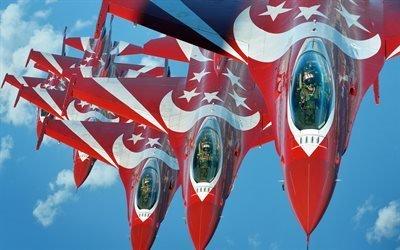 Black Knights, Черные рыцари, пилотажная группа ВВС Сингапура, F-16, Fighting Falcon