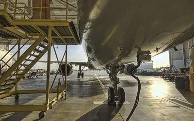 Авиация, Самолет, Ангар, Обслуживание
