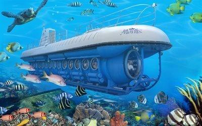Атлантис, Atlantis, канадская пассажирская подводная лодка, Карибское море, Барбадос