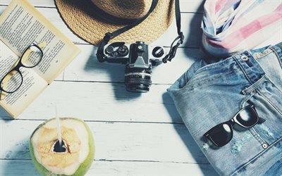 Лето, Отпуск, Панама, Джинсы, Отдых