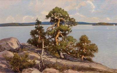 Артур Хейкелл, Arthur Heickell, Finnish painter, финский художник, Landscape, Пейзаж