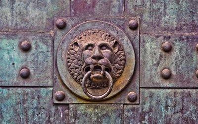 Ворота, Старые, Текстуры, Львиная голова