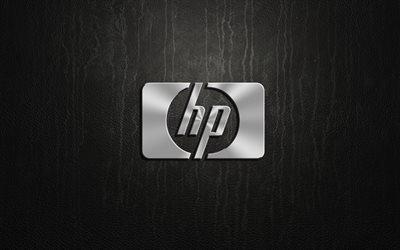 логотип, HP, logo, silver, эмблема, Hewlett-Packard