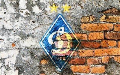 Динамо Киев, эмблема, стена, ромб, Динамо Київ