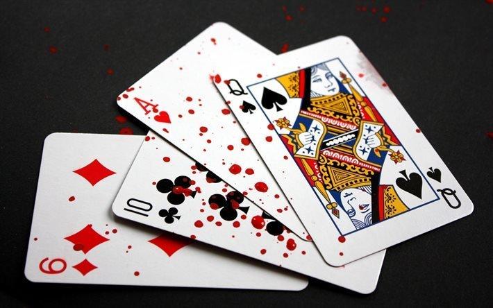 Гральні карти, Игральные карты, кровь
