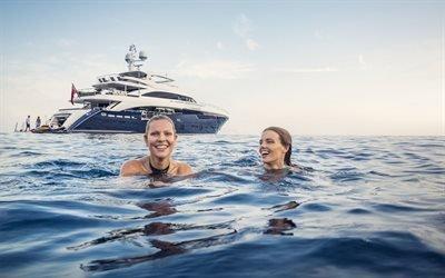 Море, Волны, Ветер, Моторная яхта, Princess 40