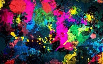 краски, цвета, радуга