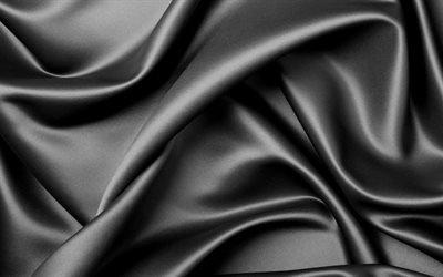 фон, чёрный, шёлк