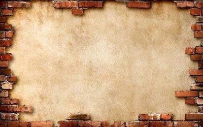 кирпичи, стена