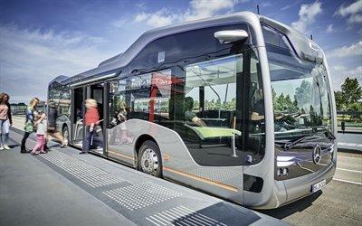 Мерседес-Бенц, беспилотный городской автобус, концепт, 2016, Mercedes-Benz, Future Bus