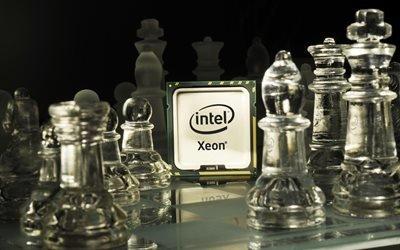 процессор, интел, Intel, хeon, шахматы, доска, фигуры