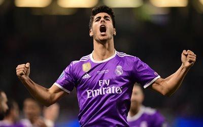 Марко Асенсио, 4к, футболисты, Реал Мадрид, Marco Asensio, Real Madrid