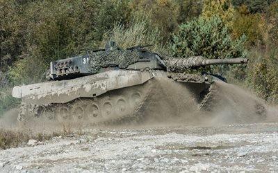 немецкий танк, Leopard 2, Леопард 2, грязь, полигон