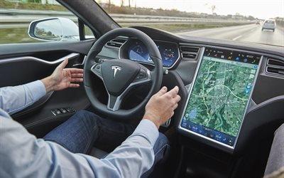 Новый электромобиль, Тесла, Tesla, Model S, Автопилот