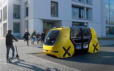 Фольксваген, школьный автобус, концепт, беспилотный электромобиль, 2018, Volkswagen, Volkswagen Sedric School Bus Concept
