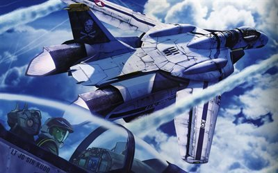 un spacy, vf-0 phoenix, vf- 0 phoenix, plane, самолет, macross zero