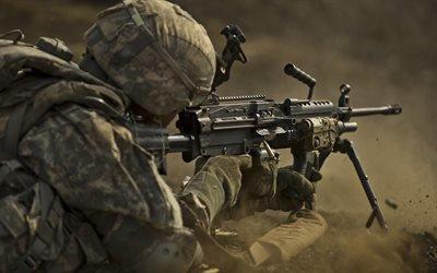 Учебный полигон, Гавайи, 25 пехотная дивизия, пулемет, стрельбы, US Army, Hawaii, M240L machine gun