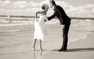 поцілунок, поцелуй, свадьба, пара