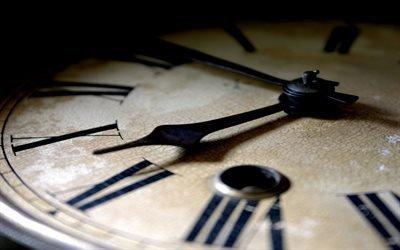 часы, ретро, старость, время, час