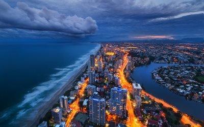 Коралловое море, пляж, Голд - Кост, Квинсленд, Австралия, Gold Coast, Queensland, Australia
