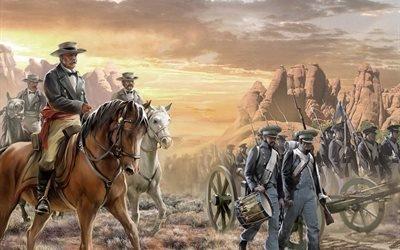 американцы, солдаты, пустыня, армия