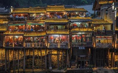 Ночь, Мост, Кафе, Китай
