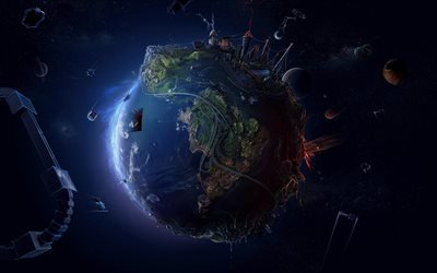 3д Земля, земной шар, креатив, планета, космос