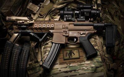 Пистолет - пулеиёт, SIG Sauer MPX, USA