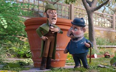 Шерлок Гномс, Gnomeo & Juliet : Sherlock Gnomes, 2018, мультфильм, комедия