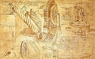 Текстуры, Рисунок, Набросок, Леонардо да Винчи