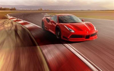 Феррари, спортивное купе, тюнинг, 2017, Ferrari, Novitec, 488 GTB