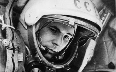 космос, человек, Юрий Алексеевич Гагарин, первый, космонавт, на, земле, ссср
