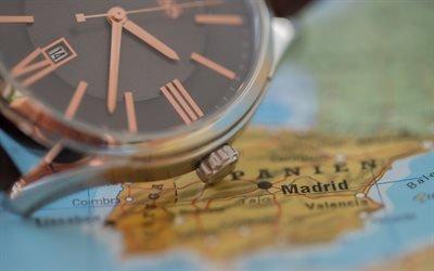 Часы, Циферблат, Стрелки, Карта
