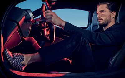 Kit Harington, Кит Хэрингтон, мужчина за рулем, парень в машине