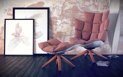 Кресло, Картины, Торшер