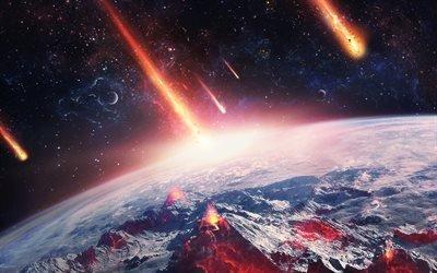 планета, метеориты, галактика, туманность